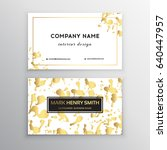 vector golden business card.... | Shutterstock .eps vector #640447957