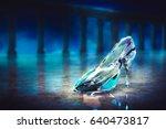3d render of cinderella's glass ... | Shutterstock . vector #640473817