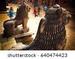 patan  durbar square the... | Shutterstock . vector #640474423