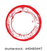 vector grunge circles.distress... | Shutterstock .eps vector #640483447