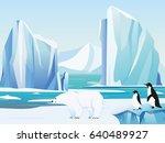 vector illustration arctic... | Shutterstock .eps vector #640489927