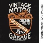 vintage tee print design as... | Shutterstock .eps vector #640493803