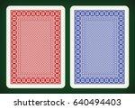 back side design   playing... | Shutterstock .eps vector #640494403