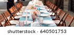 flower table decorations for... | Shutterstock . vector #640501753