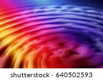 colorful ripple background | Shutterstock . vector #640502593