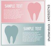 business cards design  dental... | Shutterstock .eps vector #640505743