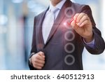 business man with pen mark the... | Shutterstock . vector #640512913