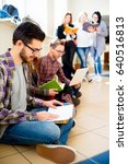 group of college students   Shutterstock . vector #640516813