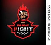 night fight. mixed martial arts ...   Shutterstock . vector #640518727