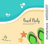 hello summer beach party flyer.  | Shutterstock .eps vector #640520257
