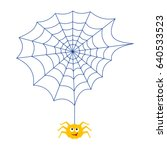 the spider and the web. icon.... | Shutterstock .eps vector #640533523
