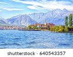 isola dei pescatori island on... | Shutterstock . vector #640543357