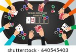 people playing poker around a... | Shutterstock .eps vector #640545403