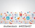 social media vector background. ... | Shutterstock .eps vector #640556437