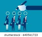 hand selection team. concept... | Shutterstock .eps vector #640561723