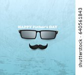 happy fathers day template... | Shutterstock . vector #640561843