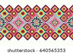 crochet  lace. a carpet of... | Shutterstock .eps vector #640565353