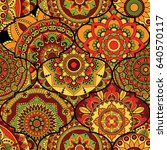 patchwork pattern. vintage... | Shutterstock .eps vector #640570117