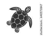 Sea Turtle Icon. Vector...