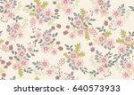 seamless folk pattern in small... | Shutterstock .eps vector #640573933