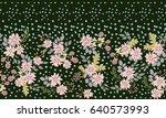 seamless folk border in small... | Shutterstock .eps vector #640573993