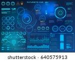 futuristic virtual graphic... | Shutterstock .eps vector #640575913