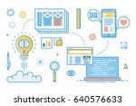 mobile app development process. ... | Shutterstock .eps vector #640576633