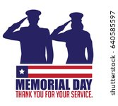 memorial day design with... | Shutterstock .eps vector #640585597
