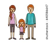 color crayon stripe cartoon... | Shutterstock .eps vector #640586647