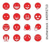 emoticon icons set. set of 16... | Shutterstock .eps vector #640592713