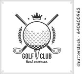 vector golf club logo. golf... | Shutterstock .eps vector #640600963