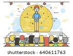 vector illustration orator... | Shutterstock .eps vector #640611763