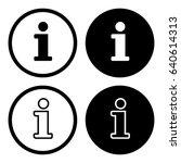 information symbol set  info... | Shutterstock .eps vector #640614313