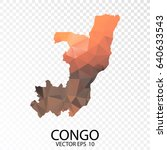 transparent polygon map  ... | Shutterstock .eps vector #640633543