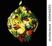 marijuana psychedelic art... | Shutterstock .eps vector #640646053