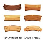 cartoon wood blank banners and... | Shutterstock . vector #640647883