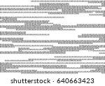 stream line binary code black...   Shutterstock .eps vector #640663423