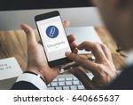 paper clip mail file attachment ... | Shutterstock . vector #640665637