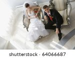 bride and groom in luxury... | Shutterstock . vector #64066687