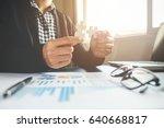 business man hands connecting... | Shutterstock . vector #640668817
