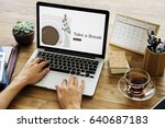 illustration of coffee cup... | Shutterstock . vector #640687183
