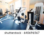 fitness machines in a fitness... | Shutterstock . vector #640696567