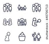 mom icons set. set of 9 mom... | Shutterstock .eps vector #640700713