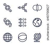 orbit icons set. set of 9 orbit ... | Shutterstock .eps vector #640700827
