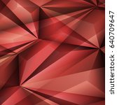 abstract geometrical red... | Shutterstock .eps vector #640709647