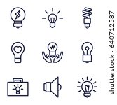 lightbulb icons set. set of 9... | Shutterstock .eps vector #640712587