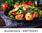 Fresh Salad Plate With Shrimp ...
