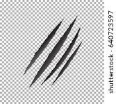 monster tear. black claws... | Shutterstock .eps vector #640723597