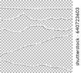 torn paper vector collection....   Shutterstock .eps vector #640723603