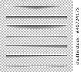 paper shadow effect set.... | Shutterstock .eps vector #640724173